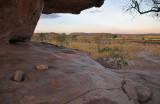 Sitting at Mushroom rock at sunset