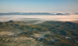 Landscape and fog from above