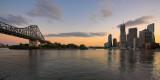 Brisbane and Story Bridge wide angle panorama
