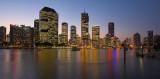 Brisbane Eagle Street Pier at dusk cityscape