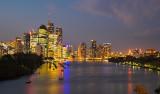 Brisbane by night cityscape
