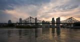 Brisbane & Story Bridge sunset cloudscape