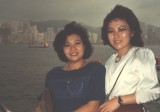 Bassie and me at the Victoria Harbour Kowloon Hong Kong