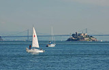 Sailboats and Alcatraz