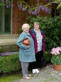 Mom & Donna with Wysteria