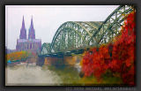 Cologne Hohenzollernbruecke with Cologne Cathedral