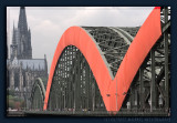 Decorated Hohenzollern Bridge in Cologne