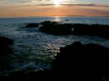 Sun setting over Coll - a fantastic evening spot just below Haunn