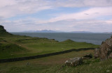 Rum, Eigg and Skye behind from Mornish uplands