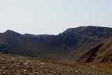 Helvellyn - the north approach with Catstye cam to left