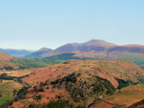 Skiddaw from Raise with Wanthwaite crags in foreground and Basenthwaite in distance left