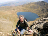 me testing self-timer on Swirral edge, Red tarn below