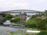 the swing bridge at Sharpness taking the railway over the canal