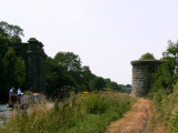the end of the railway which would have crossed the canal again here to load barges on the river