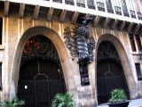 Palau Guell - carriage entrance (this has a marvellous spiral ramp for horses to be taken down to the stables)