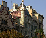 Casa Batlo - not too exotic compared to Moorish neighbour to left