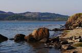 beach with Duntrune shore beyond