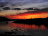 sunset from Crinan harbour