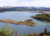 Crinan harbour from coast path/cycleway