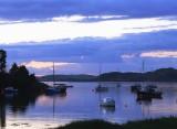 dusk in Crinan harbour