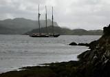 tallship off Ardfern