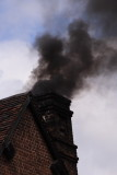 why it was black - chimney of restored Newcomen engine