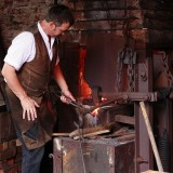 chainmaking with foot operated mechanical hammer