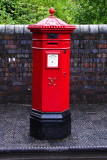 Victorian pillar box, now pillar box red rather than blackish