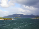 looking north from Huisinis jetty, Scarp on left