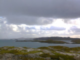 looking south from Carragraich along south east coast, almost solid rock and loch