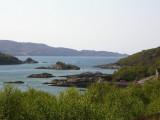 road to Ardtoe overlooking Kentra bay