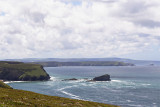 Horse rock and Navax point and Godrevy Island beyond