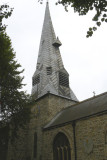 Barnstaple church - rather hemmed in