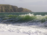 wave studies on Gunwalloe beach - note bubble at top; I don't think you see these by eye