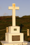 cross commemorating the sinking of HMS Anson in 1807 and led to the invention of the life saving rocket apparatus