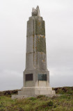 The memorial commemorating Marconi's 1st successful radio transmission across the Atlantic from Poldhu; visitor the centre