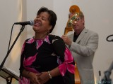 with guest singer Sandra Dowe