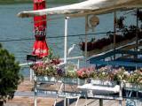 Danube-Egret visiting Restaurant