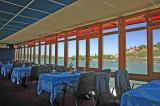 Kalemegdan and the Sava river from the boat restaurant Dijalog