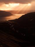 Sunset Over The Drnjandisvogur Fjord