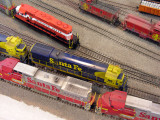 overhead view of Rich's kitbashed Santa Fe GE C30-7 #8134
