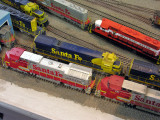 overhead view of Rich's kitbashed Santa Fe SF30C #9527