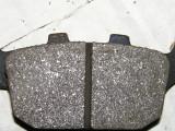 Rear brake pad after sanding 1