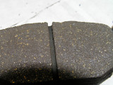 Rear brake pad after sanding 2