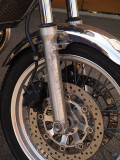 Front fork, seen from left