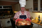 1722 25th December 06 Stephen and the Turkey.JPG