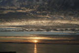 multilayered sunset