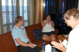 Cruise Director Brad meets with the Barefoot Cruisers