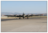 B-17 seen at the Livermore Airport