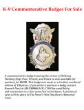 K-9 Commemorative Badge